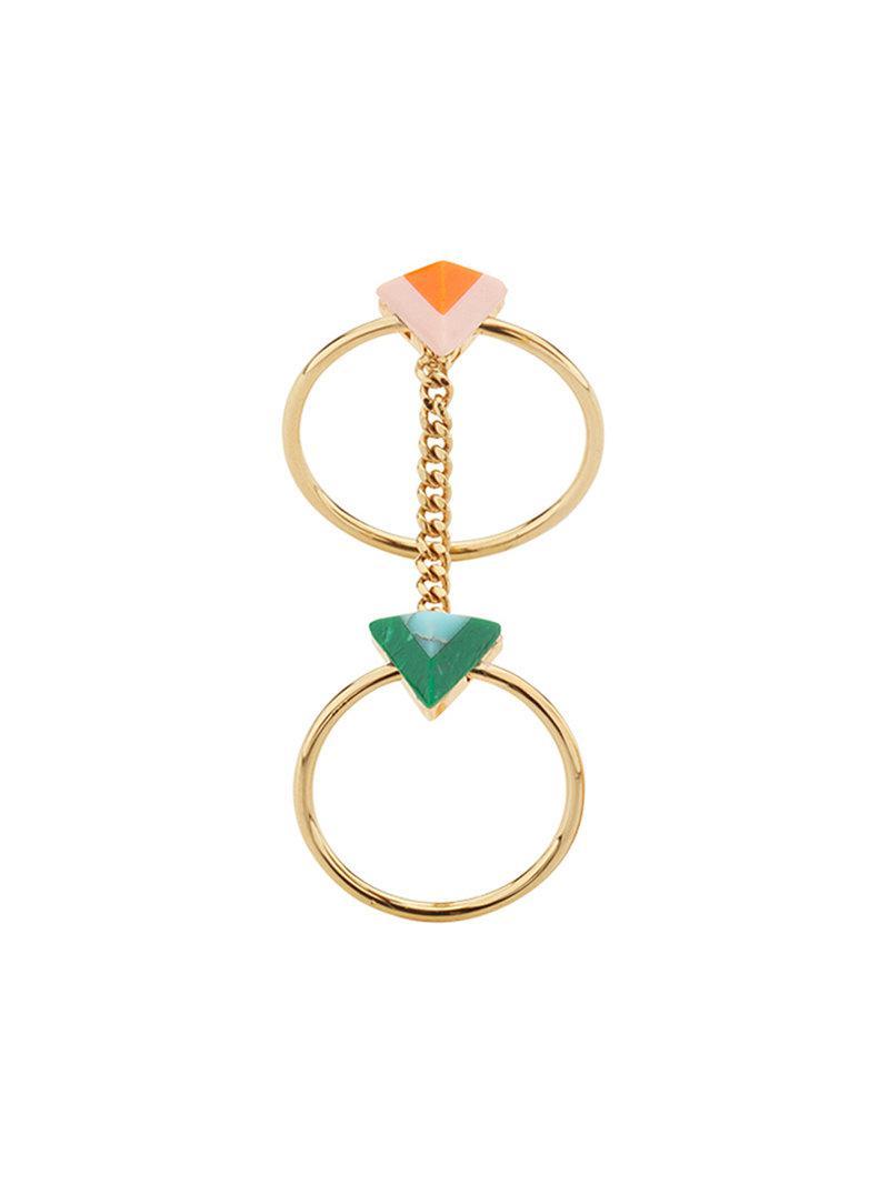 Fendi Rainbow chain double ring - Metallic zanxORJwm