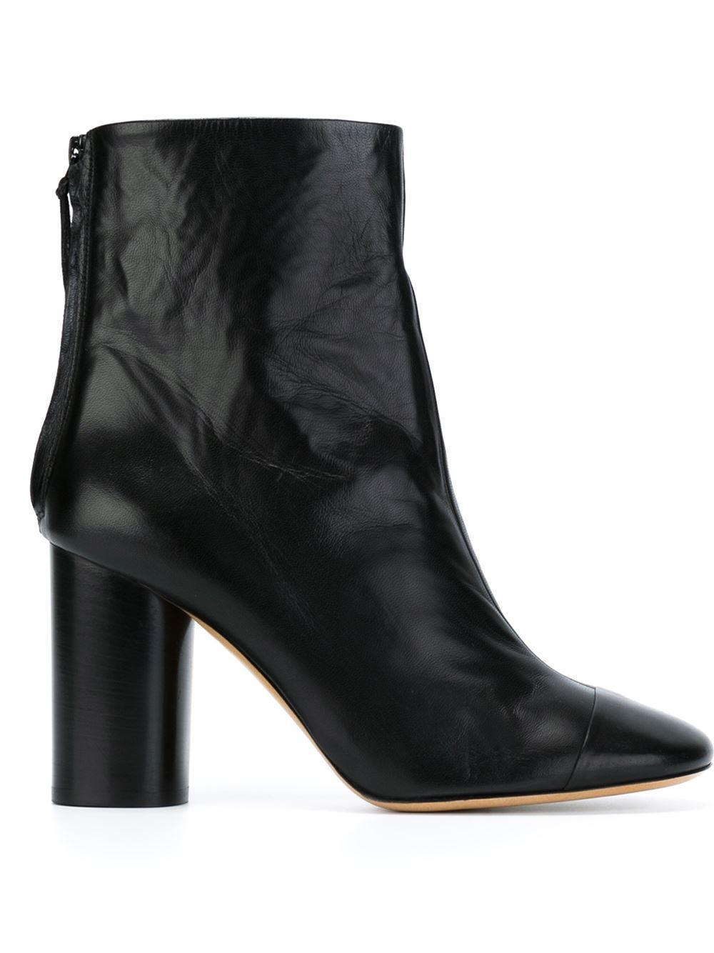 isabel marant 39 grover 39 ankle boots in black lyst. Black Bedroom Furniture Sets. Home Design Ideas