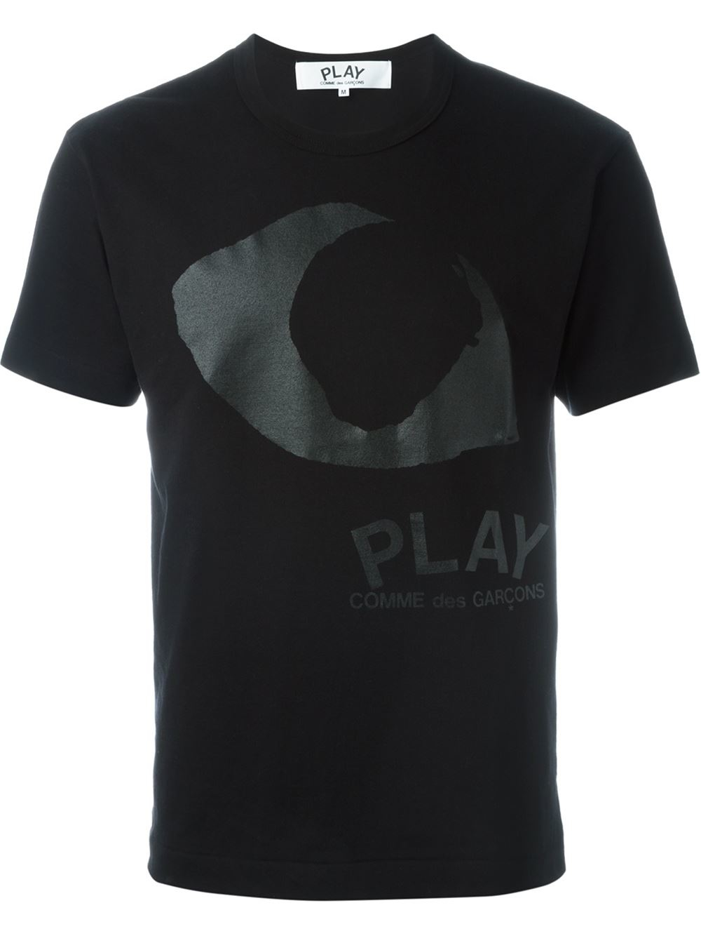 Play Comme Des Gar Ons Eye Print T Shirt In Black For Men