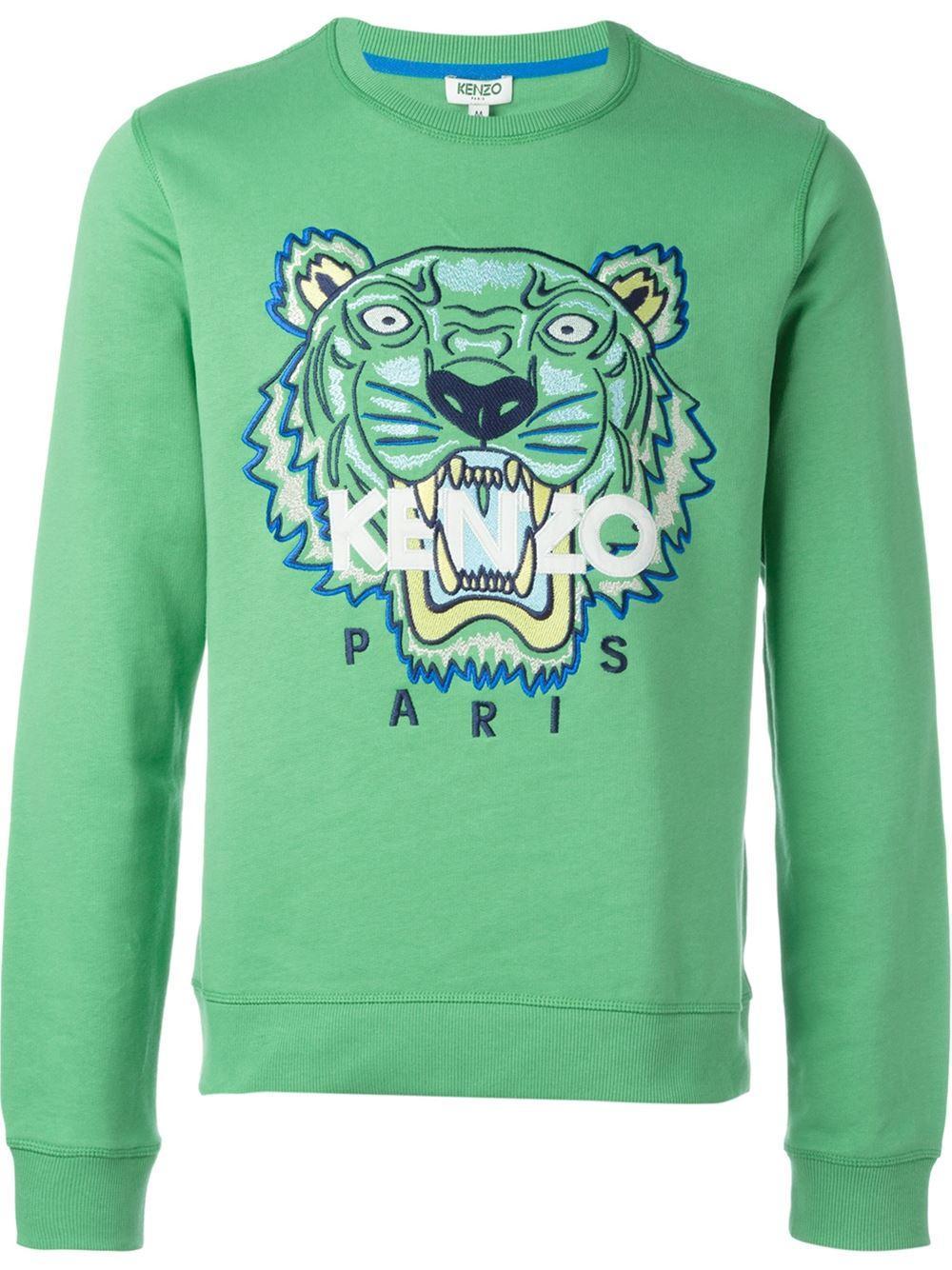 ec7148828 KENZO 'tiger' Sweatshirt in Green for Men - Lyst