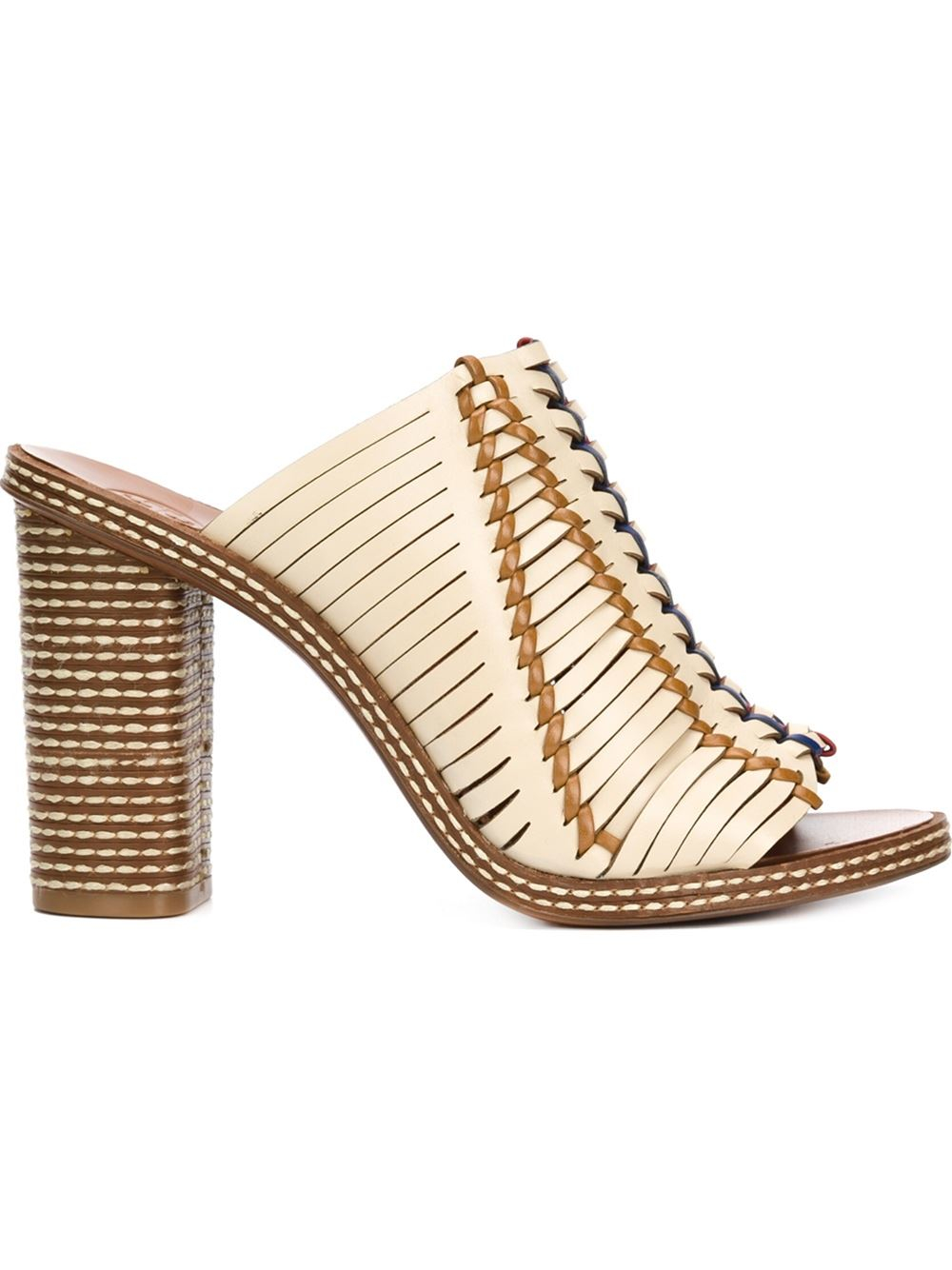 Lyst Tory Burch Woven Mules In Natural