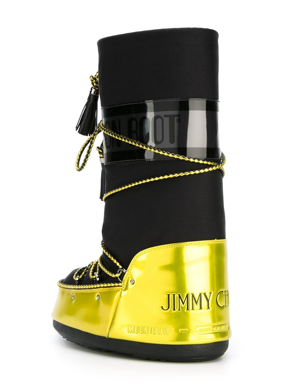 Lyst Jimmy Choo Panelled Moon Boots In Black