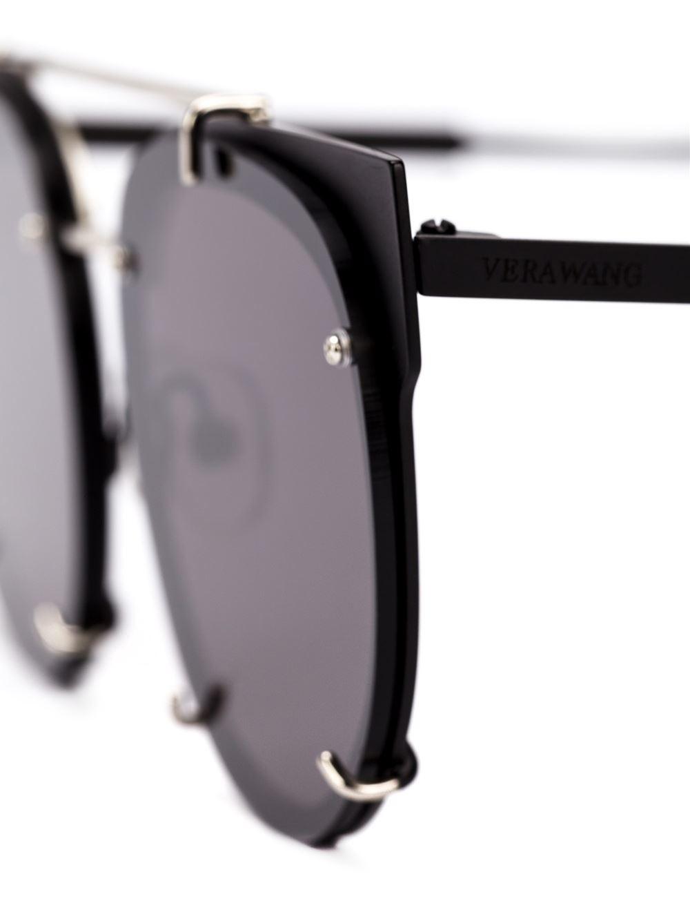 Lyst - Vera Wang Round Frame Sunglasses in Black