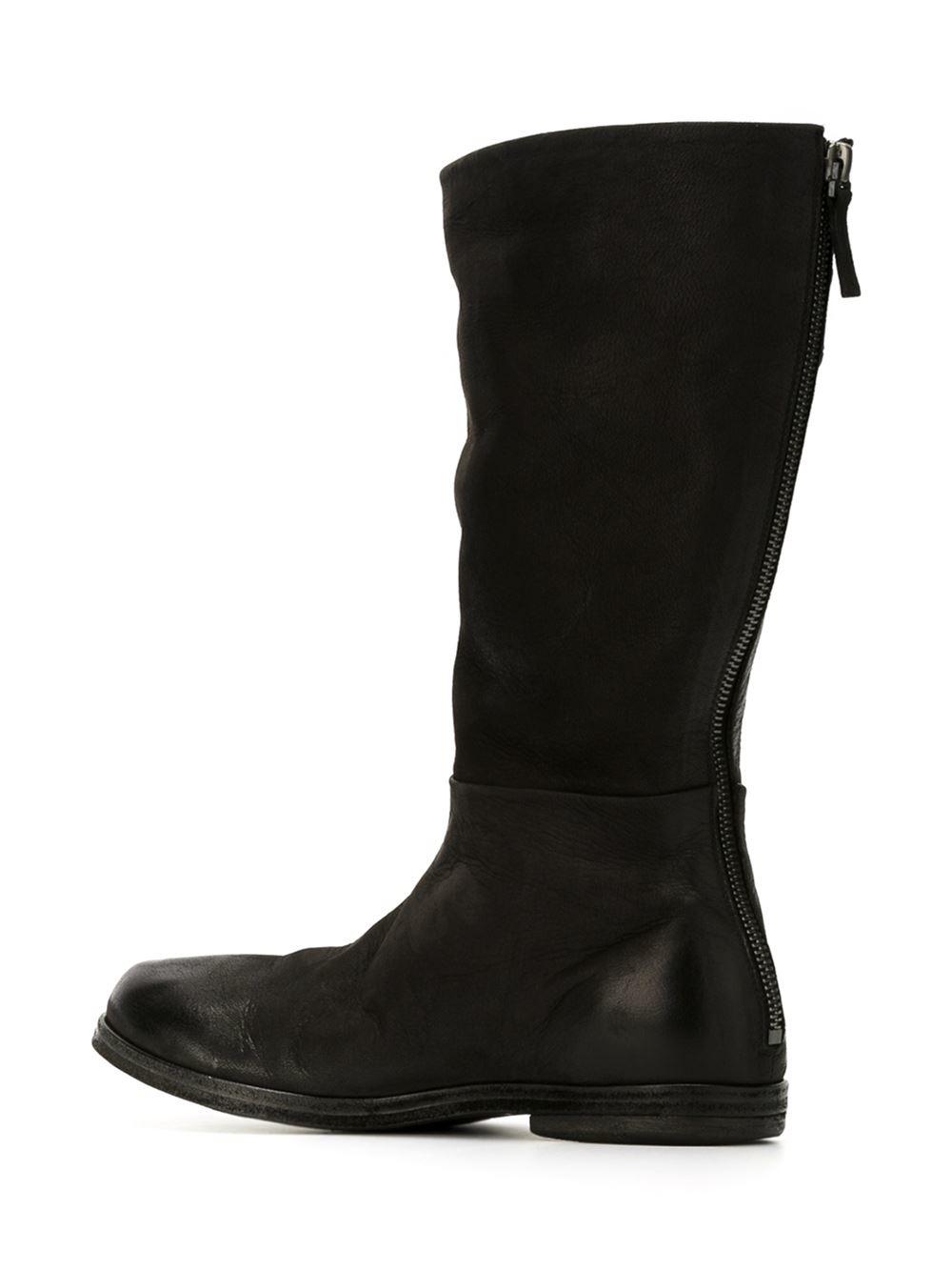mars 232 ll mid calf length boots in black lyst