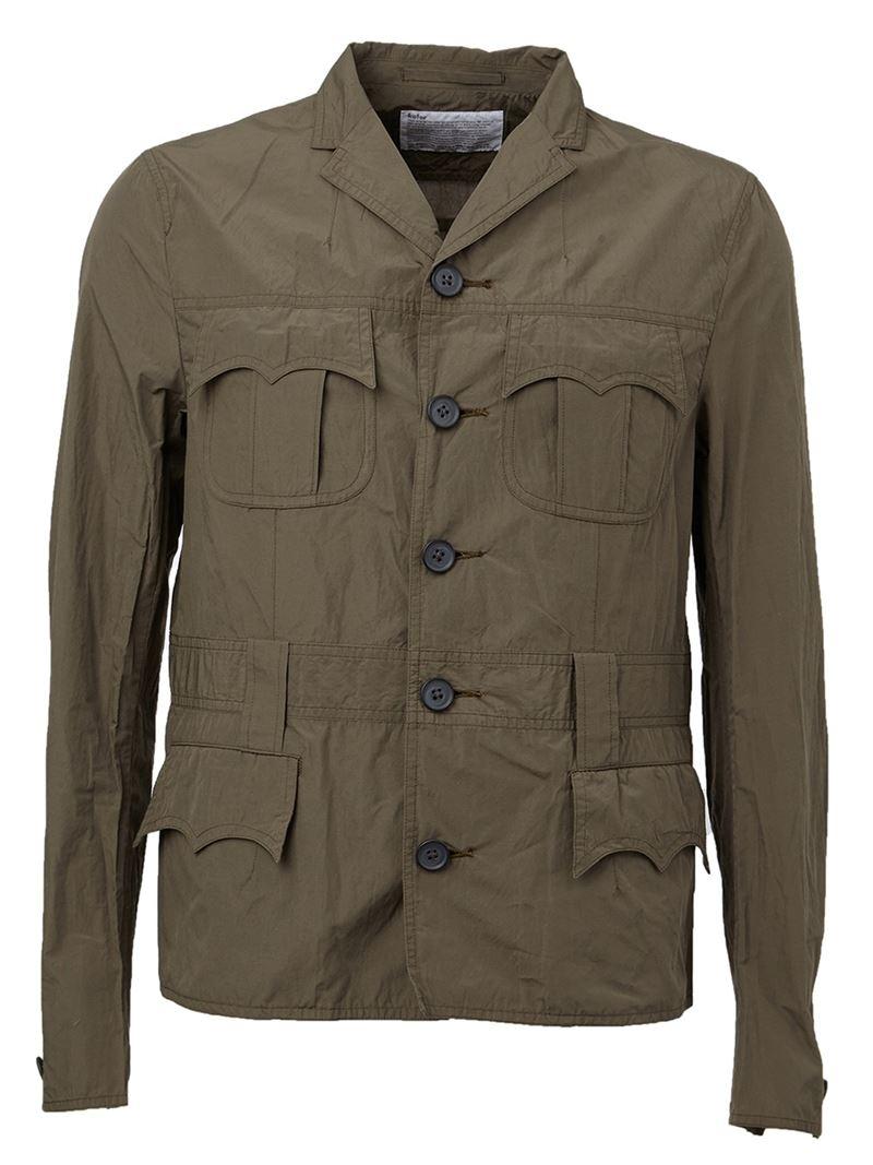 Kolor Cargo Jacket In Khaki For Men Green Save 50 Lyst