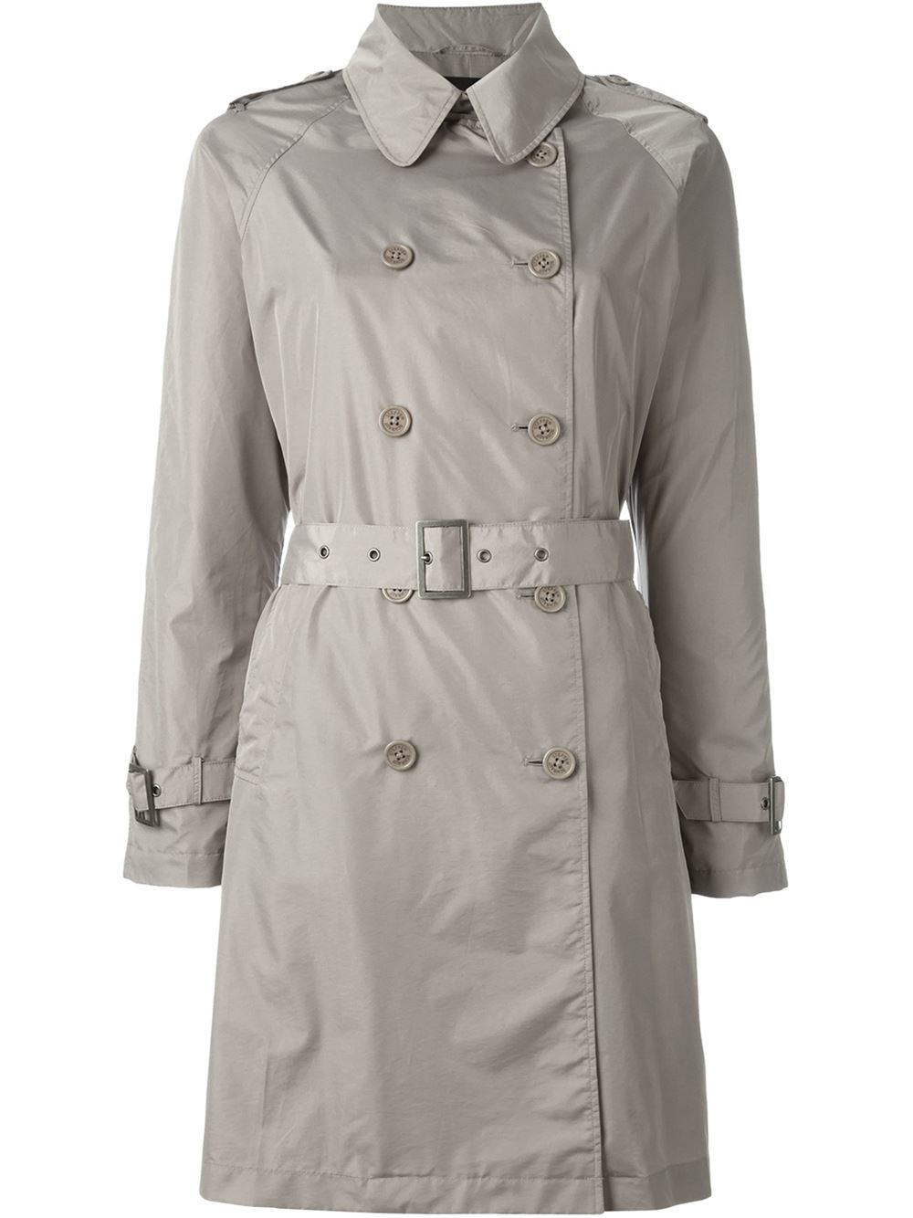 steffen schraut classic trench coat in blue nude neutrals save 40 lyst. Black Bedroom Furniture Sets. Home Design Ideas