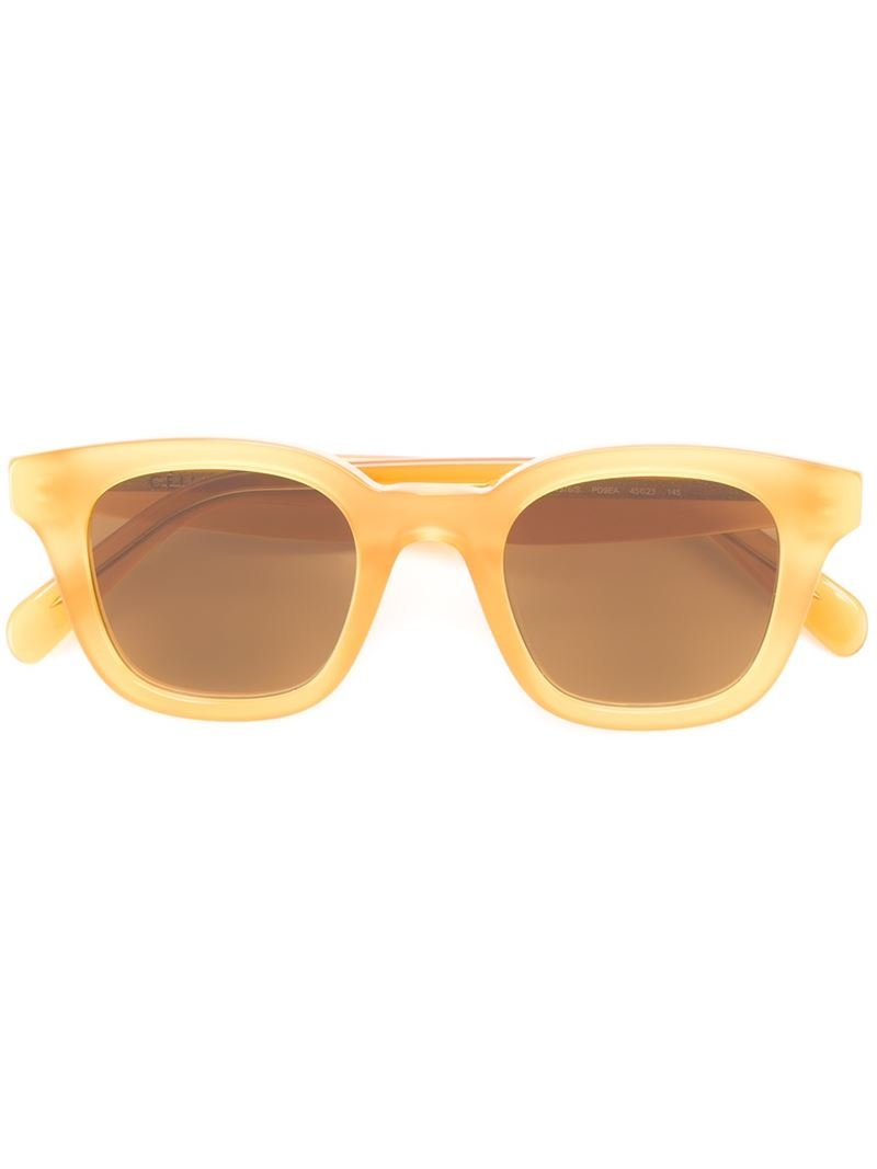 Yellow Frame Sunglasses : Celine Round Frame Sunglasses in Yellow Lyst