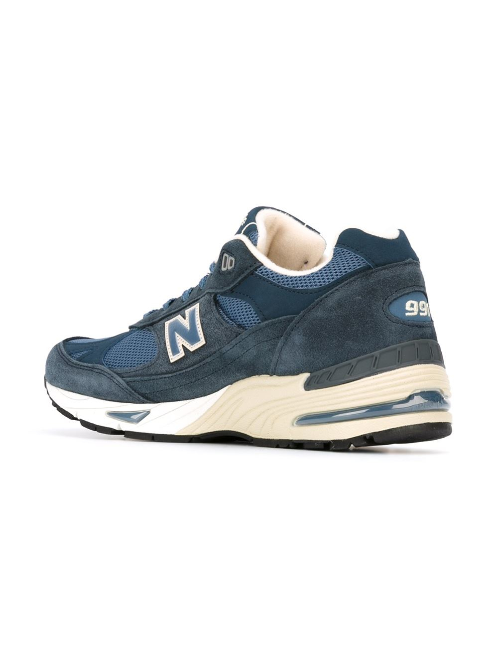 new balance 39 991 39 sneakers in blue for men lyst. Black Bedroom Furniture Sets. Home Design Ideas