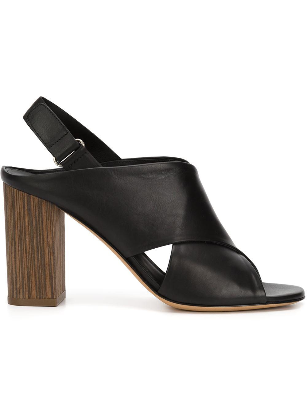 Lyst Vince Block Heel Sandals In Black