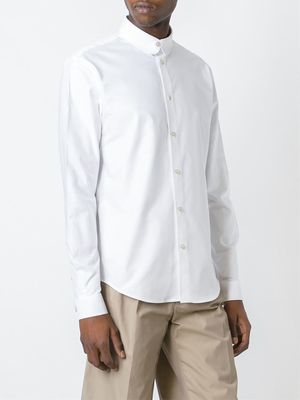 Carven Oxford Shirt In White For Men Lyst