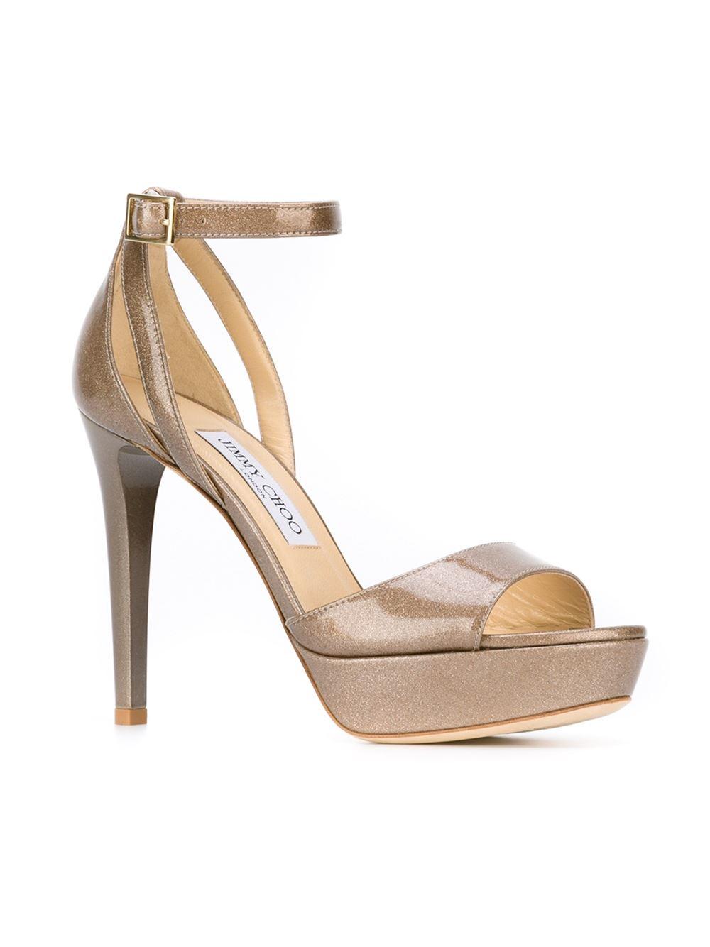 Lyst Jimmy Choo Kayden Sandals In Metallic