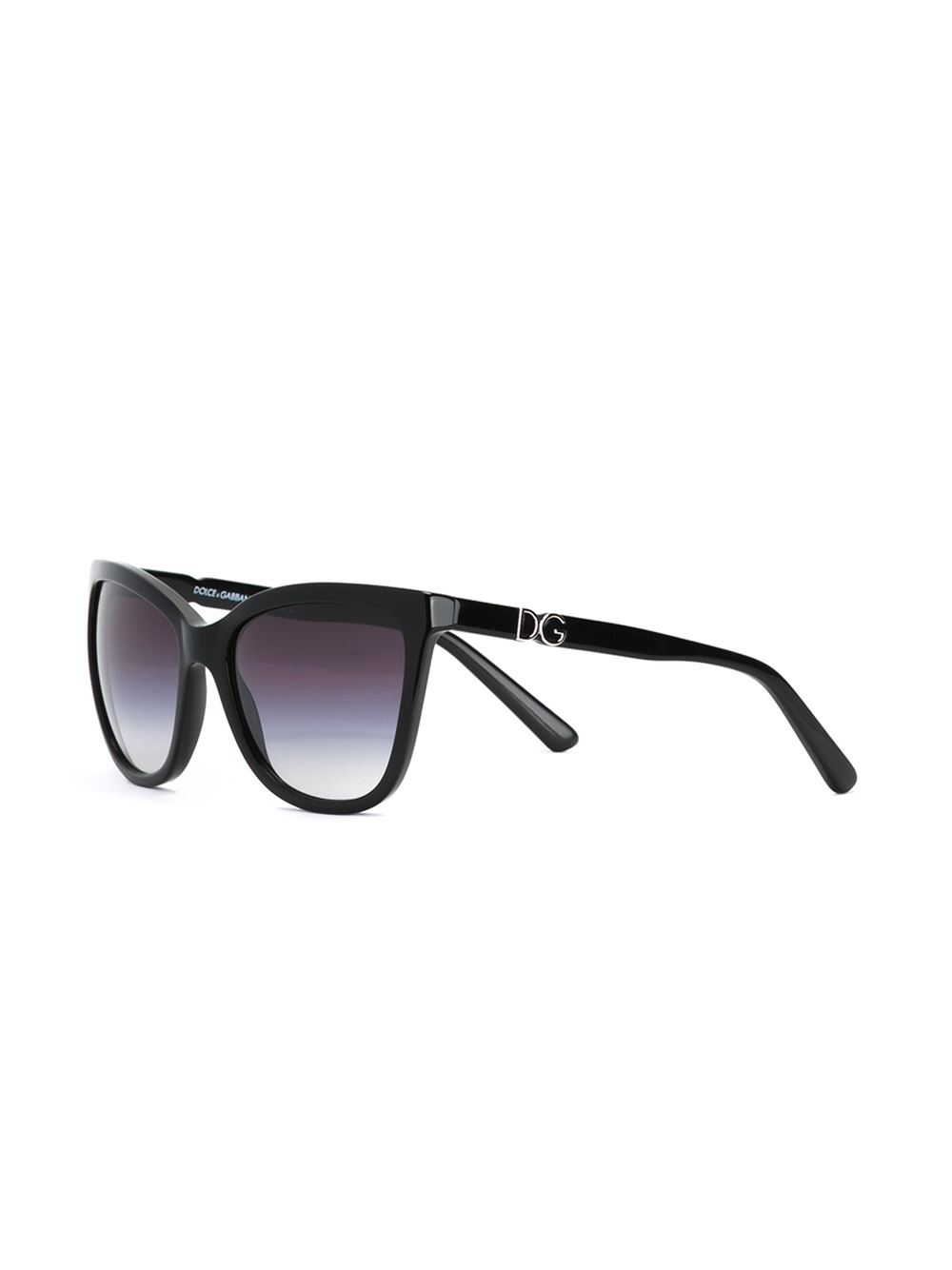 Dolce & gabbana Cat Eye Frame Sunglasses in Black Lyst