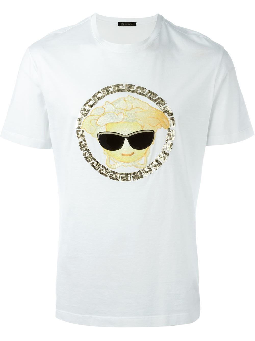 2e94c4a7 Versace 'medusa Emoji' T-shirt in White for Men - Lyst