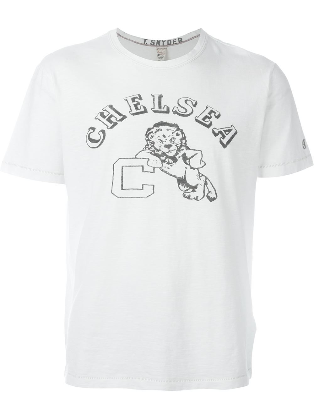 Champion college print t shirt in white for men lyst for T shirts for college guys