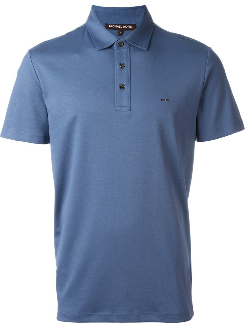 michael kors classic polo shirt in blue for men save 21 lyst. Black Bedroom Furniture Sets. Home Design Ideas