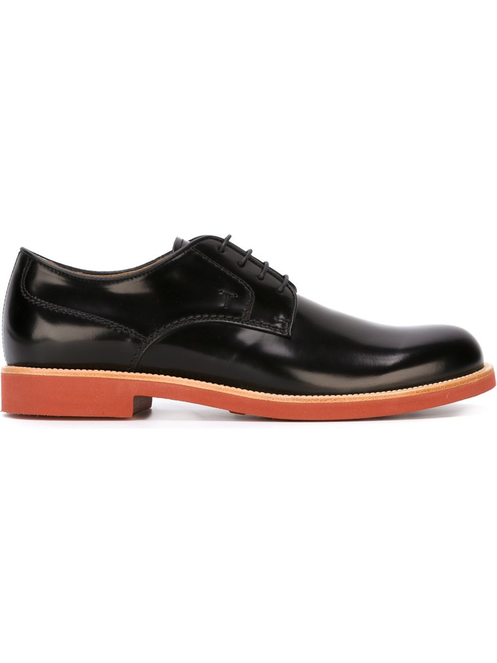 Tods Black Derby Shoes