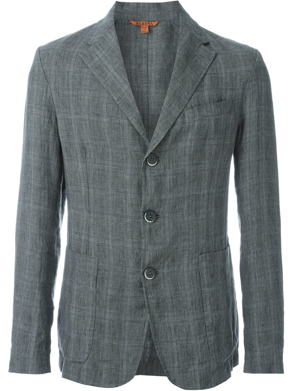 Lyst Barena Prince Of Wales Check Blazer In Gray For Men