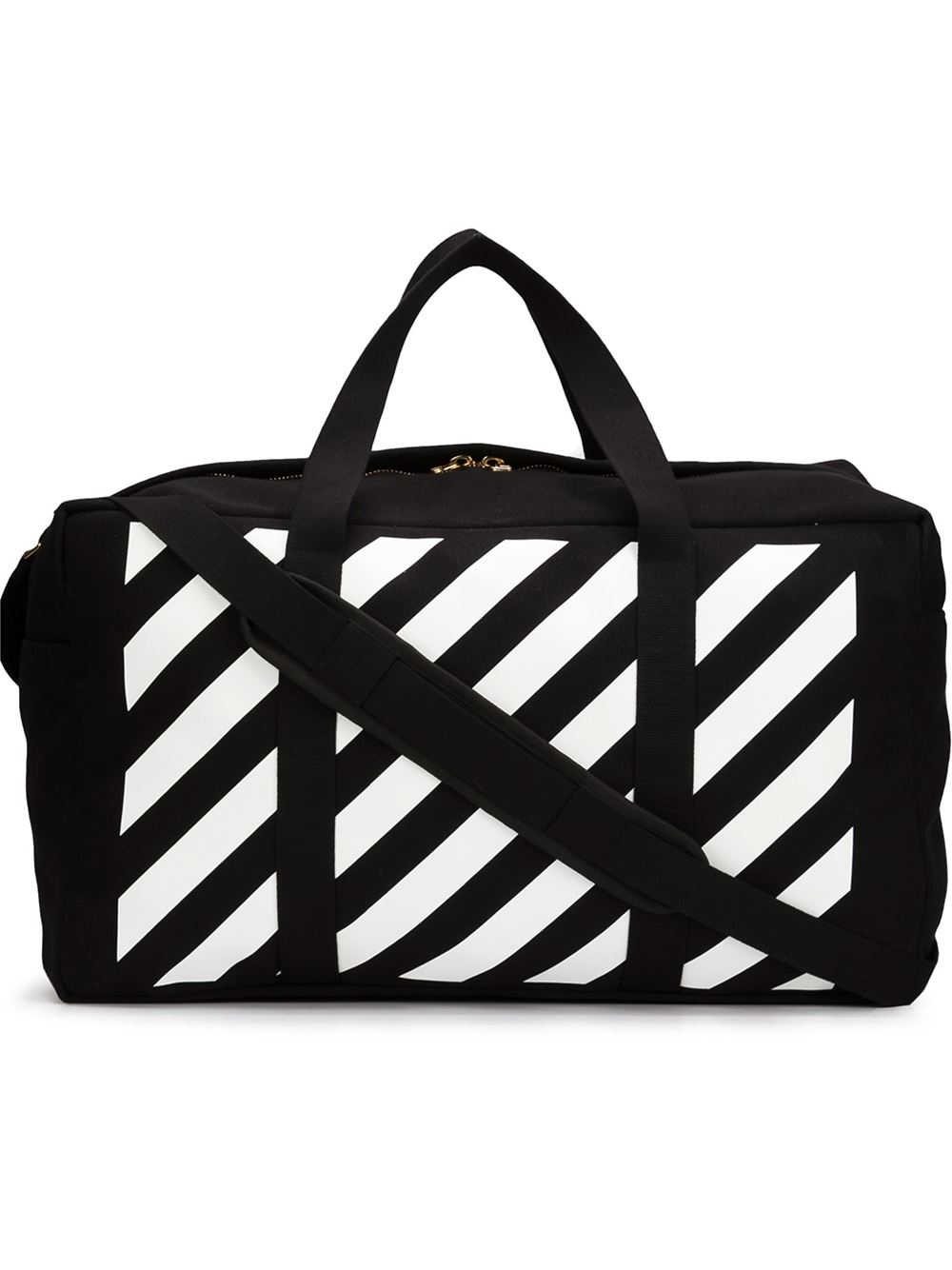 c95c8a8b3cb1 lyst off white c o virgil abloh black and white canvas duffle bag in ...