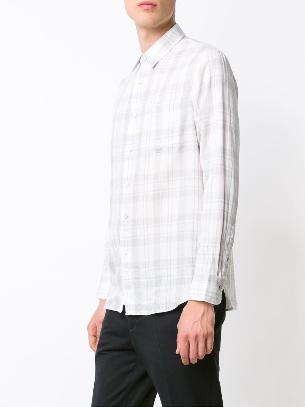 Rag bone beach shirt in white for men lyst for Rag and bone mens shirts sale