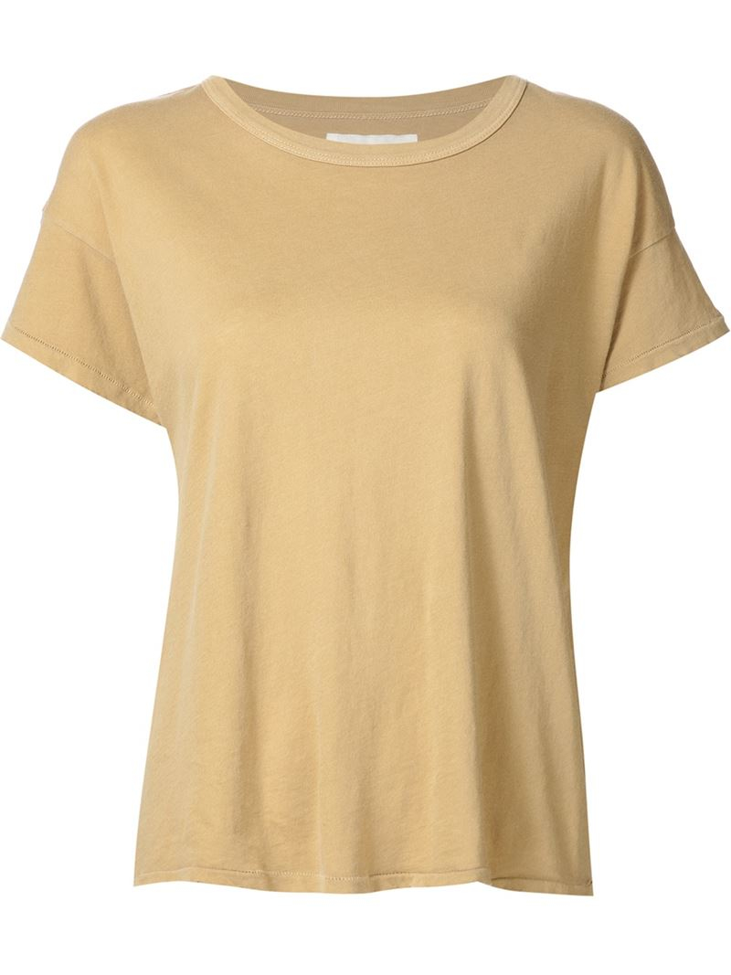 The great classic t shirt in natural lyst The great t shirt
