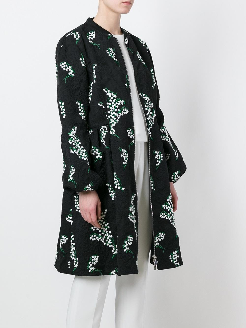 Moncler gamme rouge floral embroidered jacquard puff