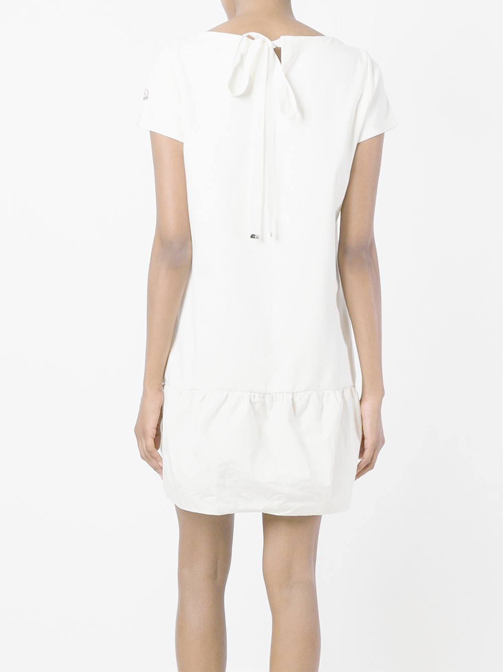 Moncler classic t shirt dress in white lyst for Classic white dress shirt