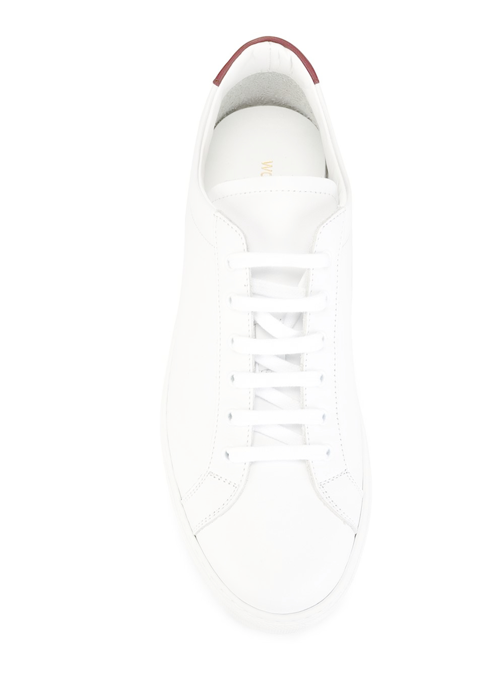 common projects panel detail sneakers in white lyst. Black Bedroom Furniture Sets. Home Design Ideas