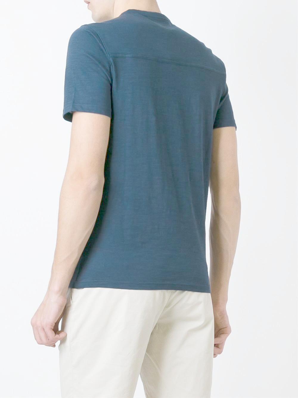 michael kors back detail long fit t shirt in blue for men. Black Bedroom Furniture Sets. Home Design Ideas