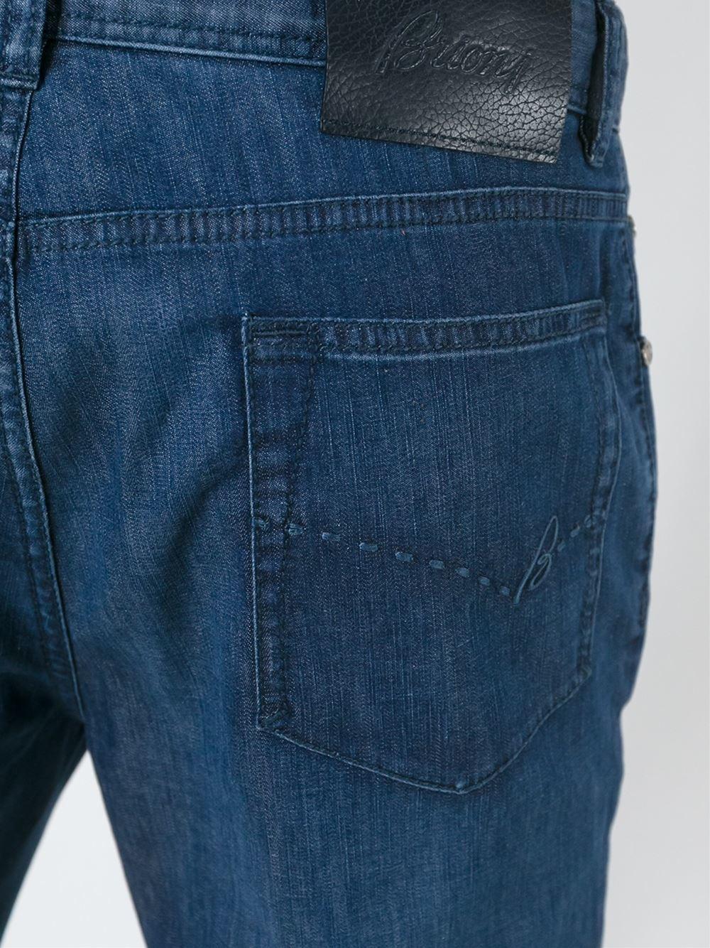 Lyst Brioni Regular Jeans In Blue For Men