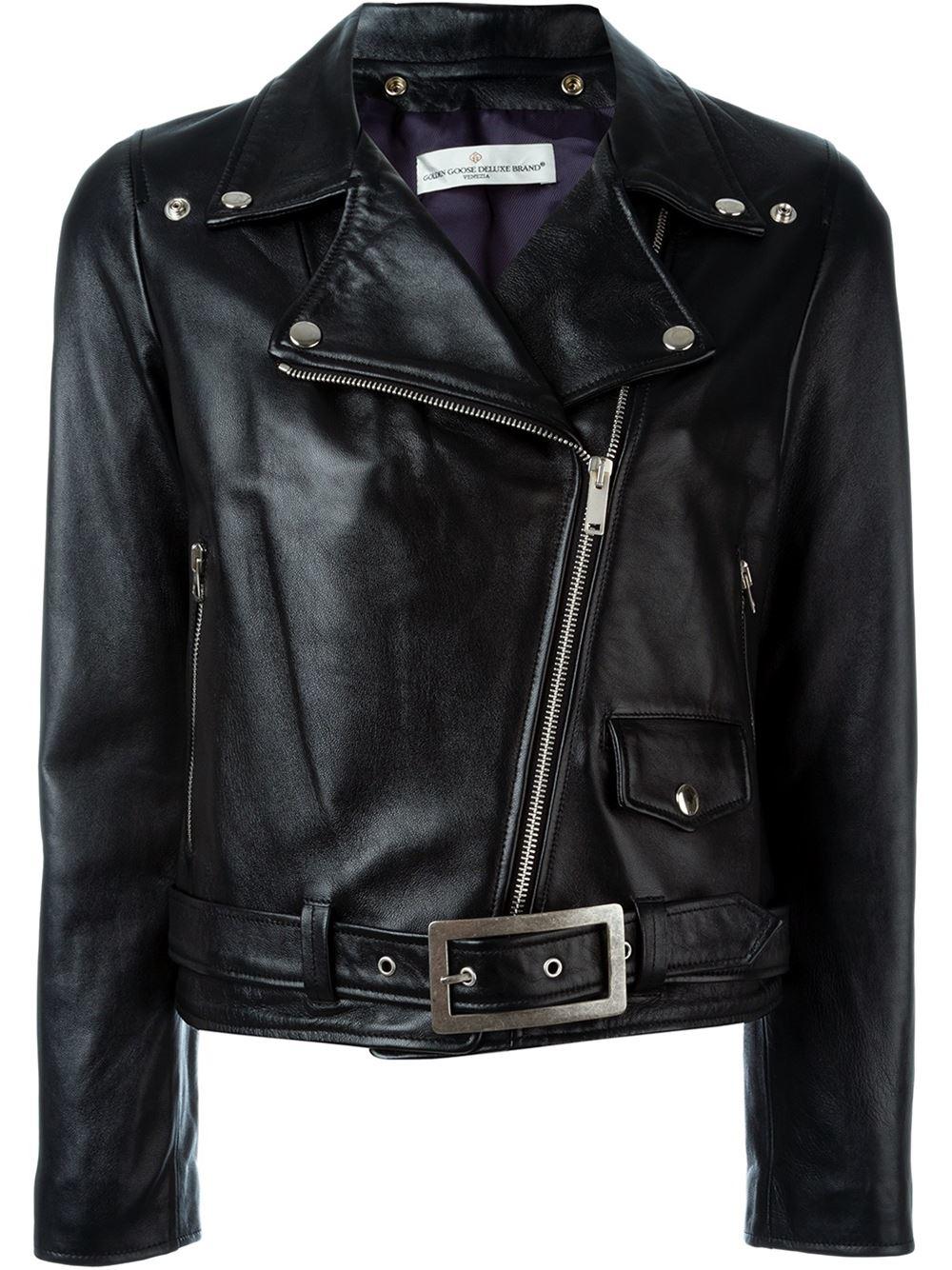 golden goose deluxe brand tiger printed biker jacket in black lyst. Black Bedroom Furniture Sets. Home Design Ideas