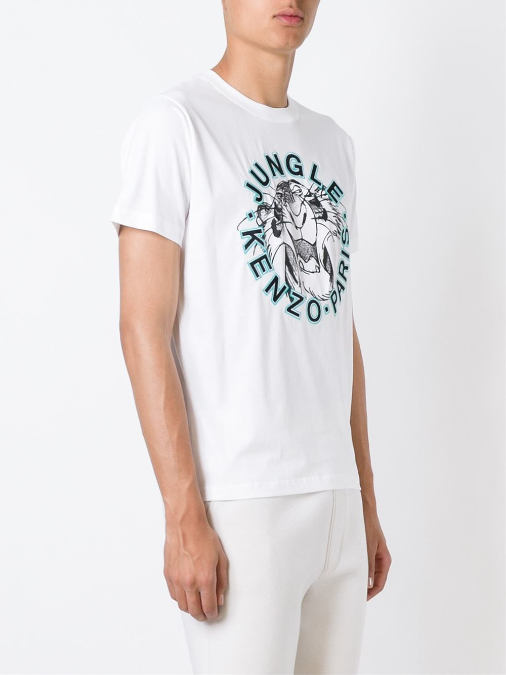 kenzo 39 jungle 39 t shirt in white for men lyst. Black Bedroom Furniture Sets. Home Design Ideas