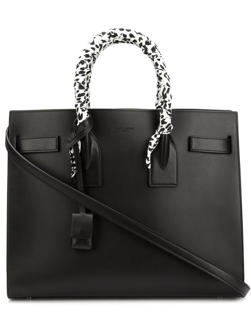 saint laurent baby sac de jour tote in black lyst. Black Bedroom Furniture Sets. Home Design Ideas