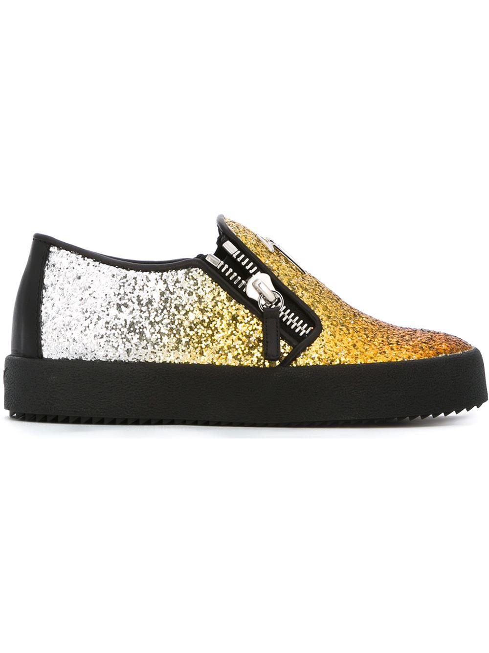 52cf217fac72d Giuseppe Zanotti 'Eve' Glitter Sneakers in Metallic - Lyst
