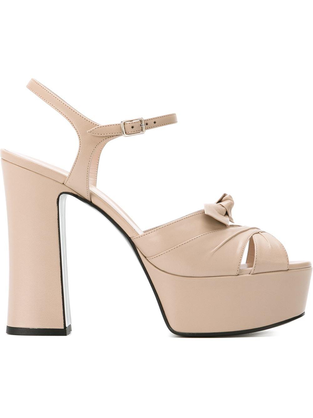 Lyst Saint Laurent Candy Platform Sandals In Pink