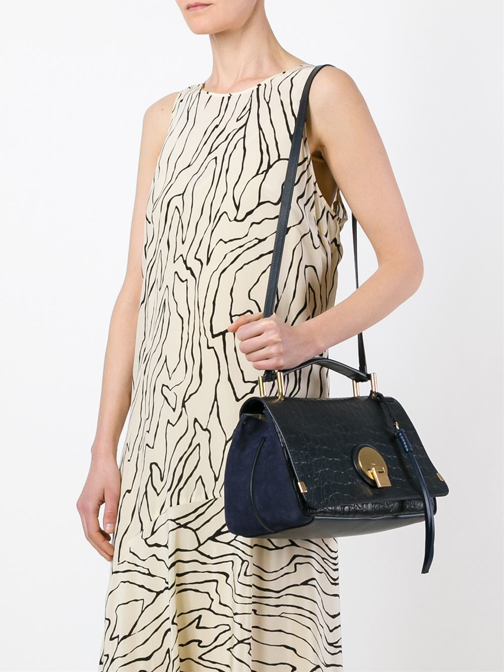 replica chloe handbags - Chlo�� Crocodile Effect Indy Tote in Blue | Lyst