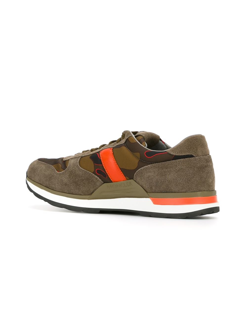 moncler new montego sneakers in brown for lyst