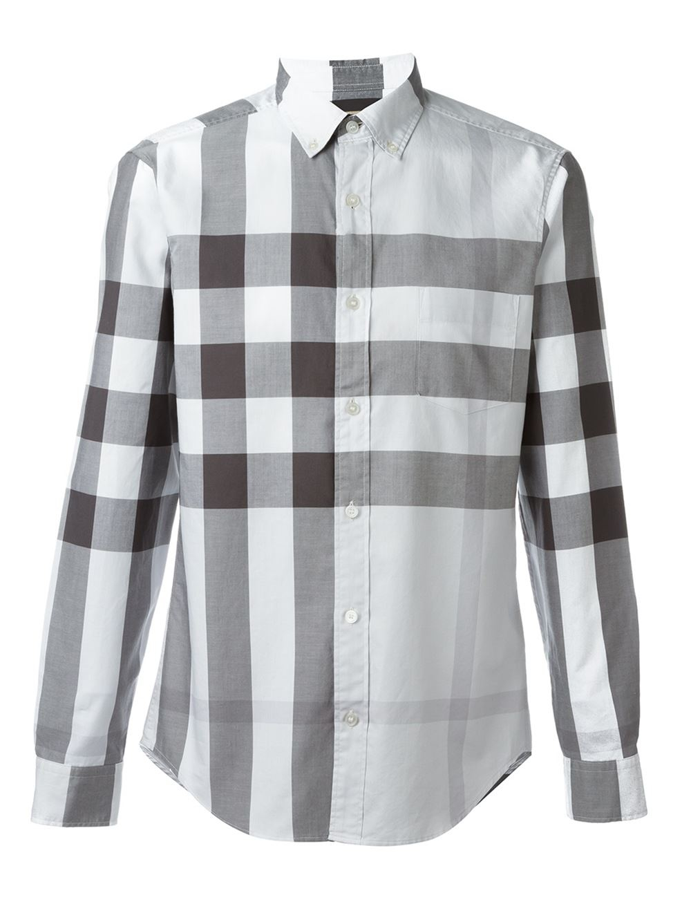 Burberry brit checked shirt in metallic for men lyst for Burberry brit checked shirt