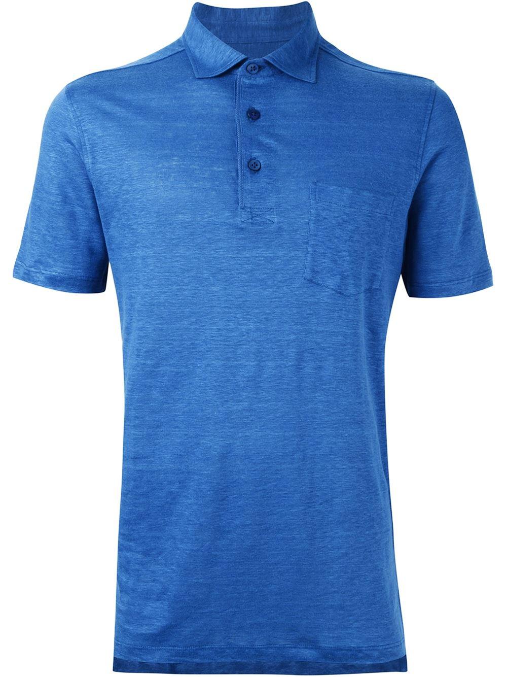 ermenegildo zegna classic polo shirt in blue for men