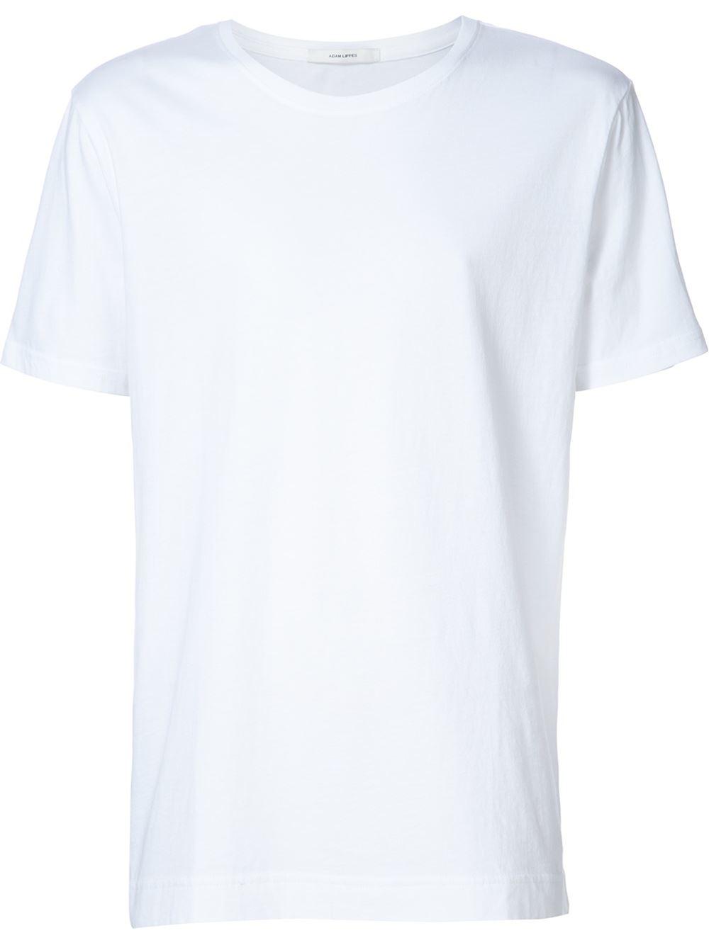 adam lippes shortsleeved t shirt in white for men lyst