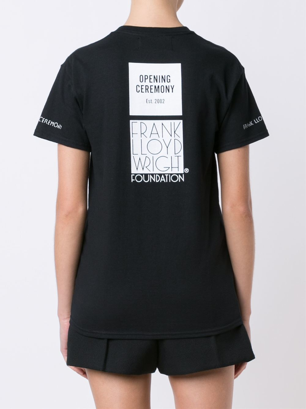 Opening Ceremony Fall 2015: Opening Ceremony Geometric Print T-shirt In Black