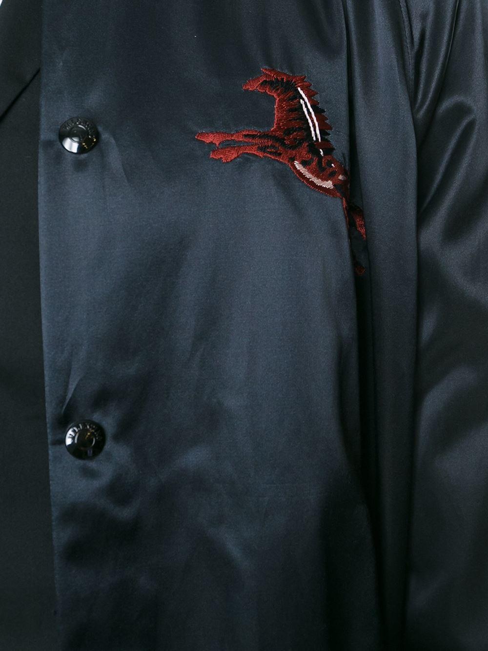 Lyst Valentino Flying Horses Bomber Jacket In Blue For Men