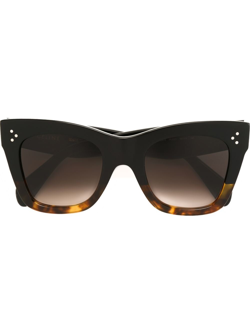 Celine Gold Frame Sunglasses : Celine Contrast Frame Cat Eye Sunglasses in Black (BROWN ...