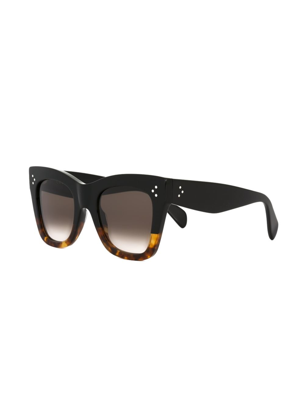 570007c37e Céline - Contrast Frame Cat Eye Sunglasses - Women - Acetate - One Size in  Black