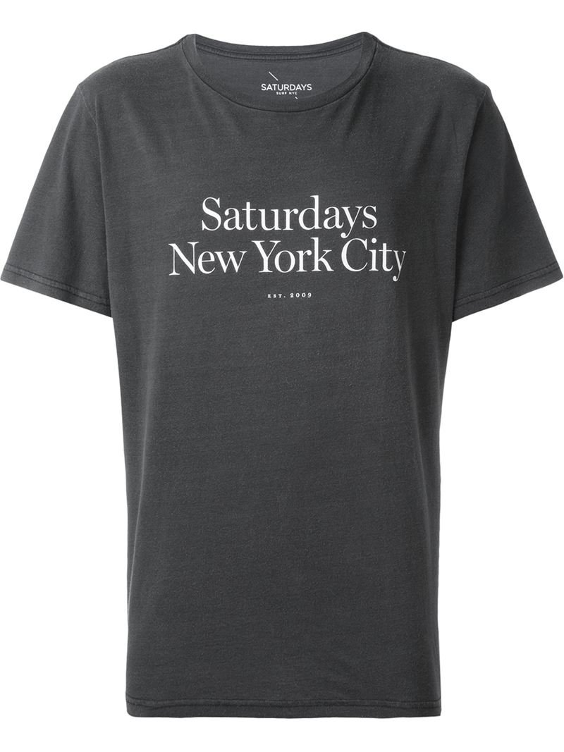 saturdays nyc 39 miller 39 t shirt in blue for men lyst