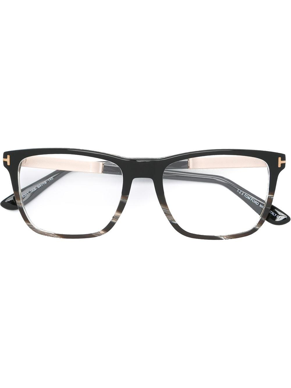 Glasses Frame Tom Ford : Tom ford Square Frame Glasses in Black for Men Lyst