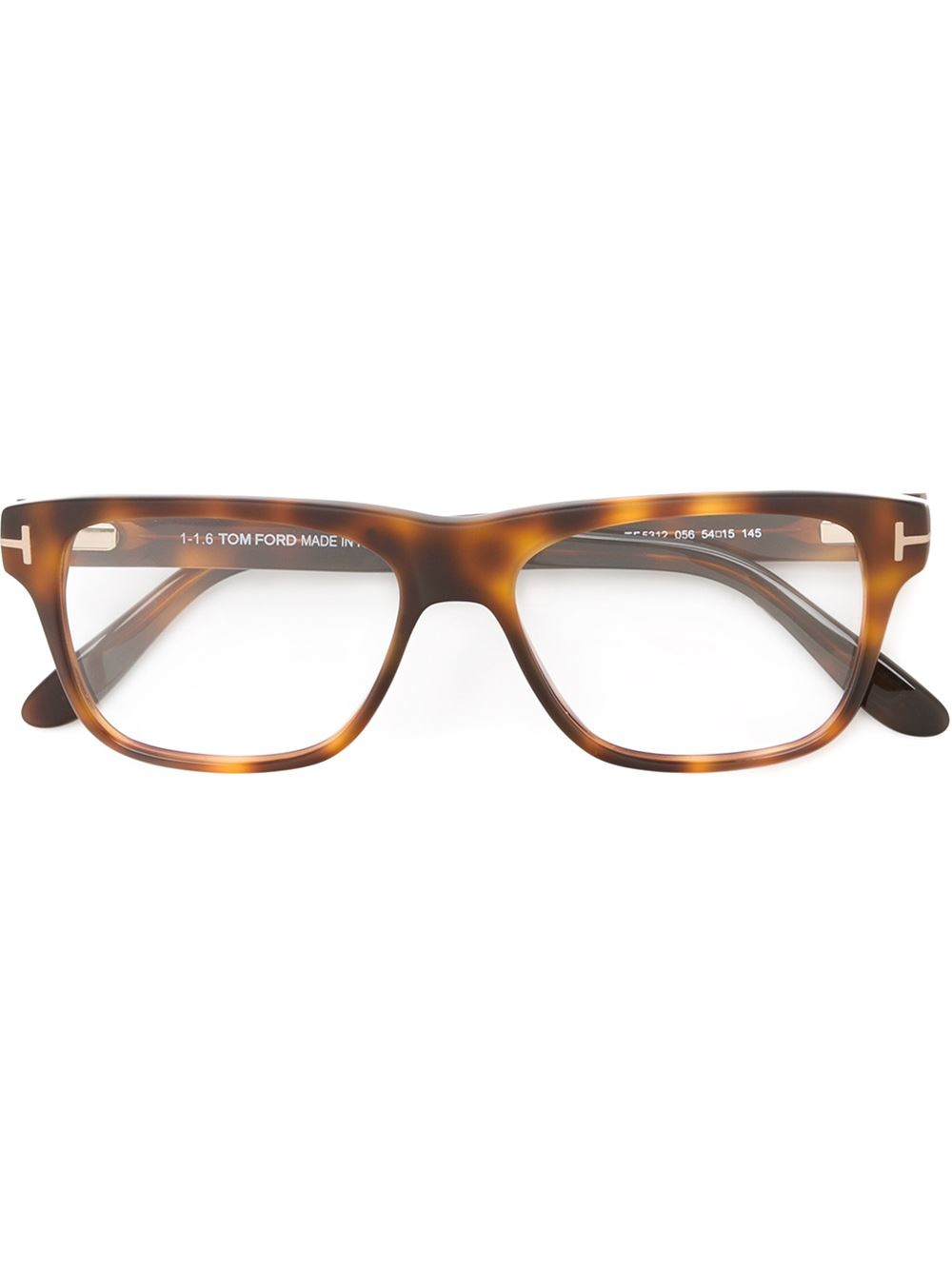 Tom ford Square Frame Glasses in Brown for Men Lyst