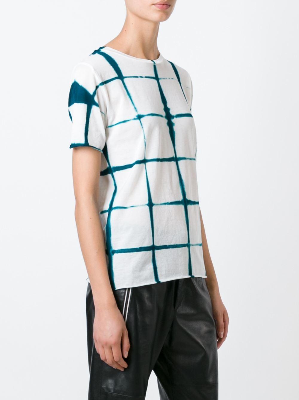 Lyst suzusan tie dye print t shirt in green for Tie dye printed shirts