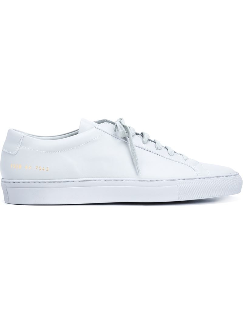 common projects 39 original achilles low 39 sneakers in white for men grey lyst. Black Bedroom Furniture Sets. Home Design Ideas
