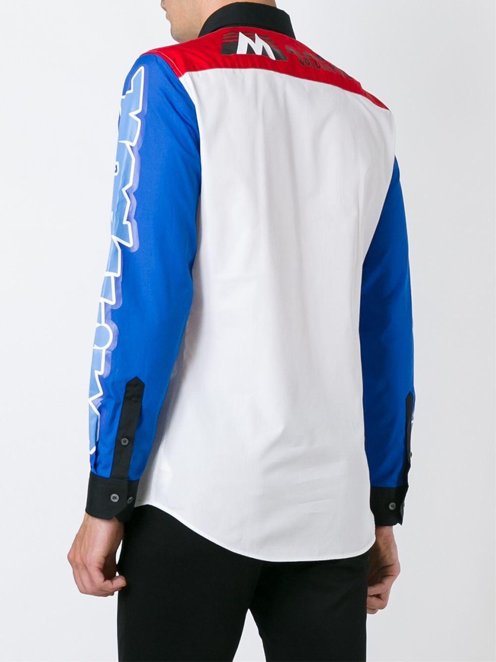 Moschino Multi Logo Print Shirt for Men