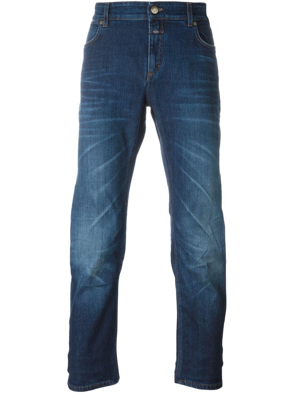 closed 39 pedal slim 39 slim jeans in blue for men save 54 lyst. Black Bedroom Furniture Sets. Home Design Ideas